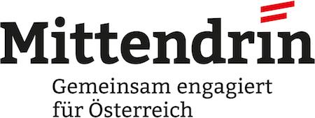 Logo Mittendrin - Gemeinsam engagiert für Österreich