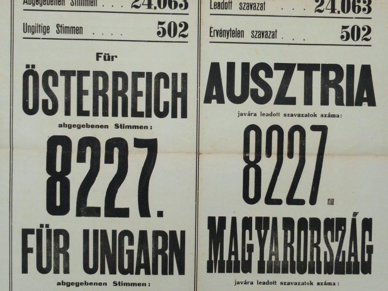 Bild 4 Volksabstimmung Ödenburg 1921 Ergebnis Pro Ungarn Klein